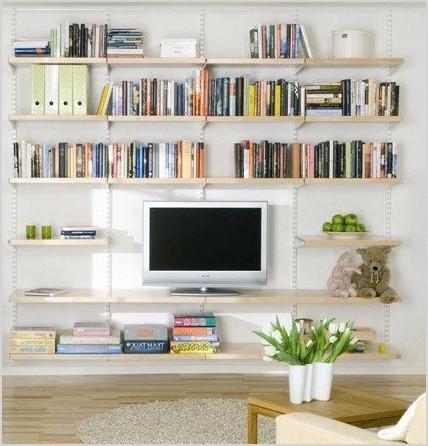 living room shelving ideas hanging birch wooden shelves