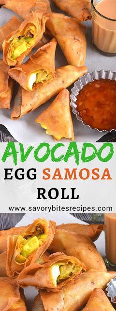 Avocado Egg Samosa / Roll