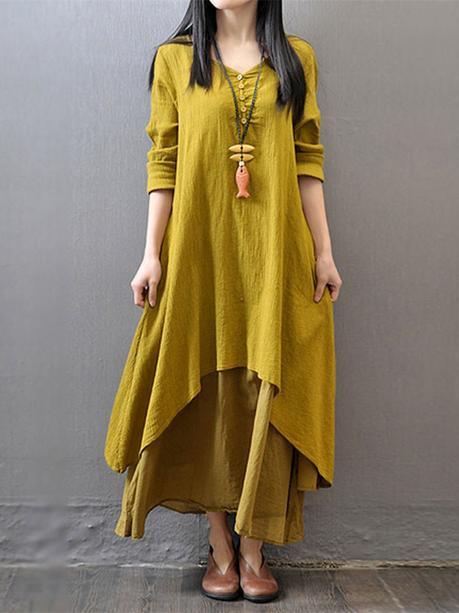 layered long maxi dress