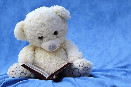 Image: Photo Credit: Teddybear reading, by Oldiefan