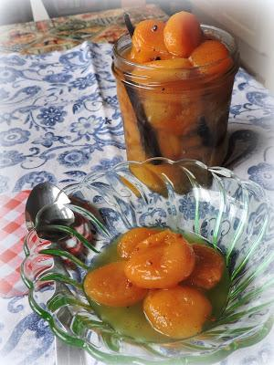 Dried Apricots in Cardamom Syrup