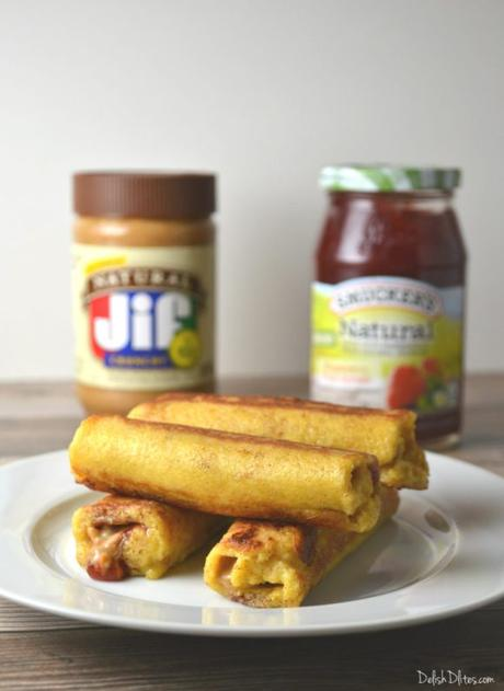 Peanut Butter & Jelly French Toast Roll Ups