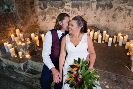 Quirky & Fun wedding photography by Tux & Tales Photography at Asylum in London lots of candles