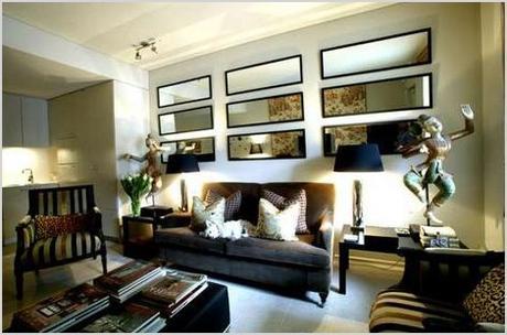 living room decor using wall mirrors