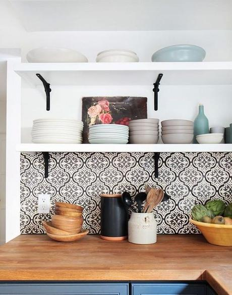 Moorish Kitchen Backsplash