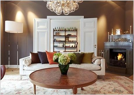 contrastes de colores para una sala moderna