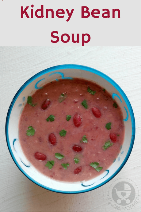 Soups are the best thing to have in cold weather, and this kidney beans soup is hearty, warming and packed with protein power!