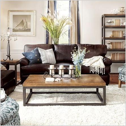 brown couch decor