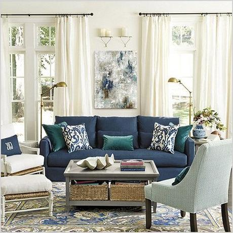 navy blue couches