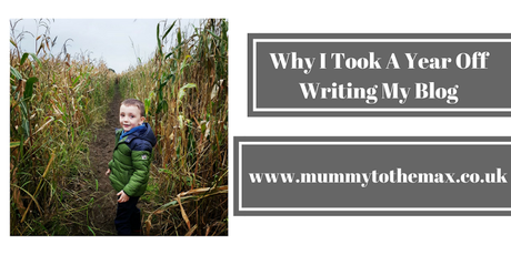 Why I Took A Year Off Writing My Blog