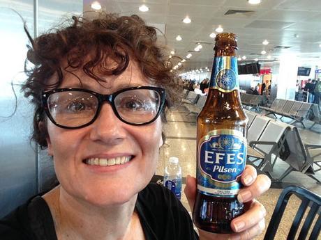 Efes beer. Ataturk airport