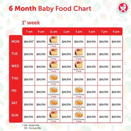 6 Months Baby Food Chart With Indian Recipes Paperblog
