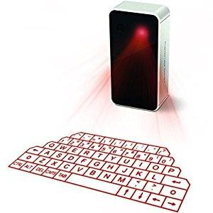 Image: Virtual keyboard, ShowMe(TM) Laser Projection Bluetooth Wireless Keyboard for iPad iPhone Android Smart Phones with Voice Broadcast mini Speaker