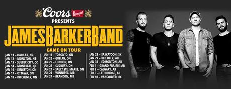 Game On: James Barker Band Tour Preview, Interview and 5 Quick Questions