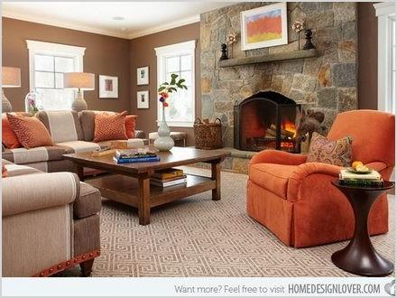 burnt orange and brown living room ideas home design 764804fe4aeecab2
