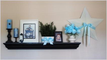 living room decorating shelf