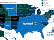 Low-Wage Walmart Largest Employer States