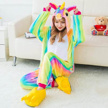 Women's footie pajamas