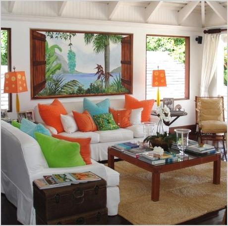 tropical living room decor