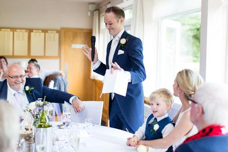 Best York Documentary Photography groom makes funny face during speeches
