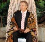 What is Tony Blair doing in Africa?