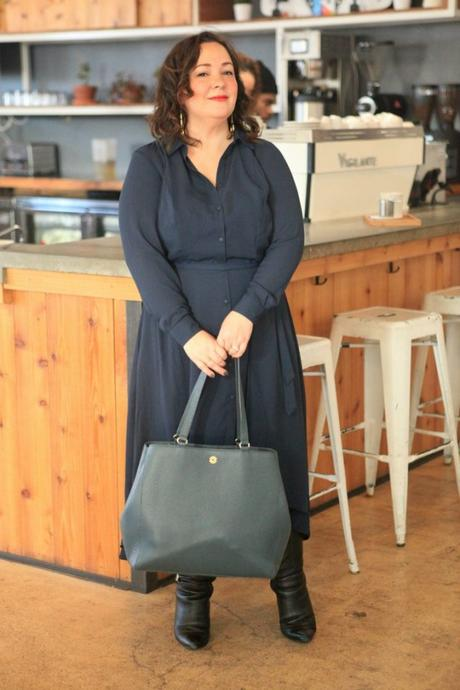 What I Wore: Navy with Black