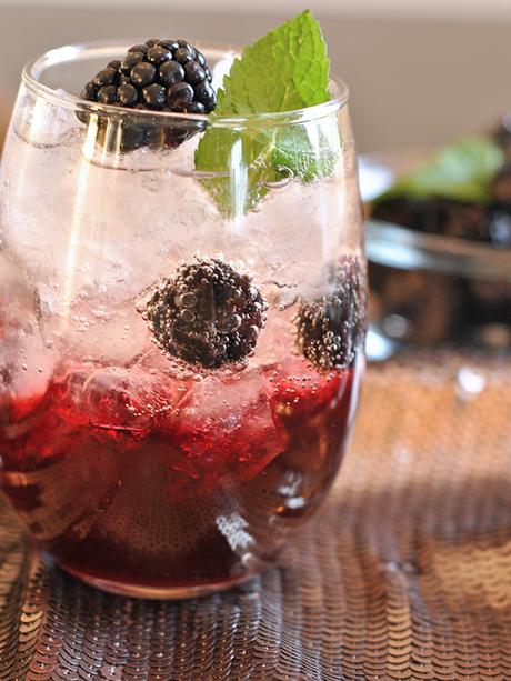 Blackberry Brandy Fizz Cocktail