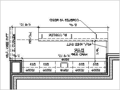 home bar blueprint plans