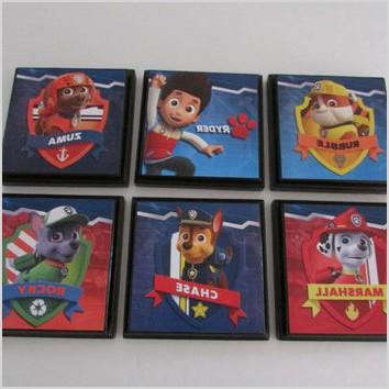 paw patrol kids room wall plaques set of 6 paw patrol room decor marshall rubble zuma rocky chase room signs