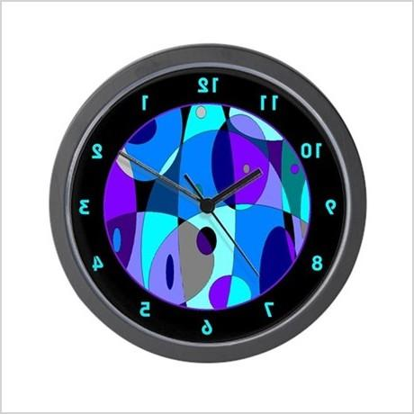 cool psychedelic wall clock 445640057
