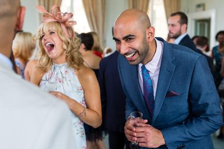 A fun Yorkshire Wedding guests laughing and smiling