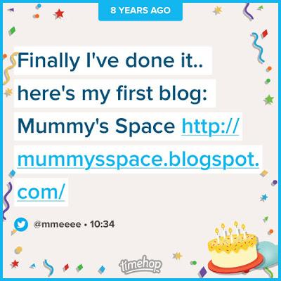 Happy 8th Blog Birthday to Mummy's Space