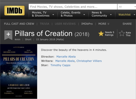 NEWS: Pillars of Creation on IMDb