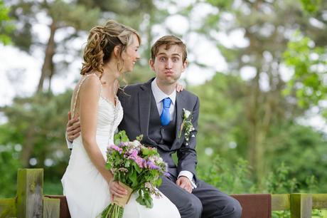 Groom makes funny face Villa Farm Weddings