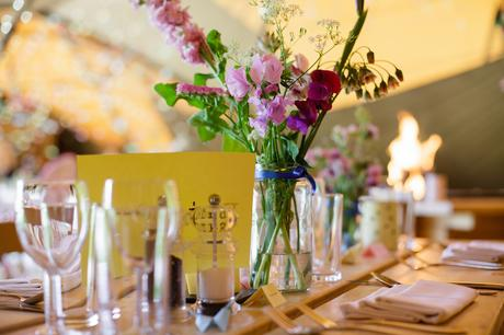 Villa Farm Weddings wild flower table decorations