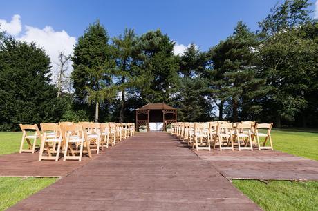 Outdoor ceremony seating Villa Farm Weddings