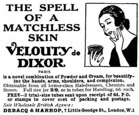 1923 Dixor Velouty Powder Cream - Image: cosmetics and skin