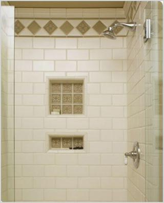traditional white subway tile shower with 2 shower niches traditional bathroom new york
