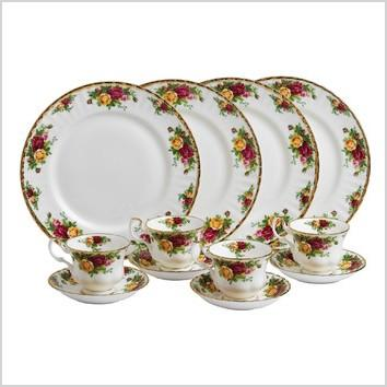 royal albert old country roses 12 piece dinnerware set 15210280 ral1459