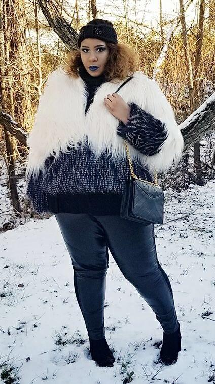 Faux Fur And Faux Leather Looks