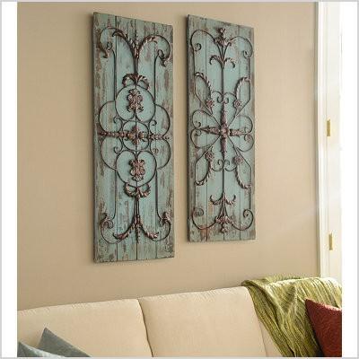 metal and wood wall art adelaide wall plaque set of 2 kirklands