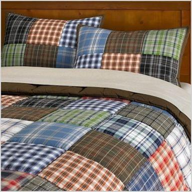 patch plaid quilt and sham contemporary kids bedding
