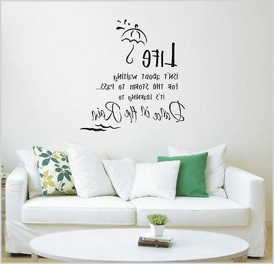 dance in the rain wall art sticker quote wall stickers 011 3 sizes 12552 p