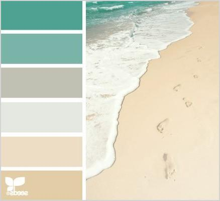 color palette from the shore