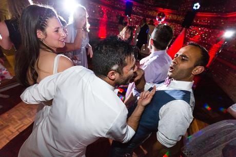 Fun Dance photograph during disco St Stephens Hampstead Wedding Photography