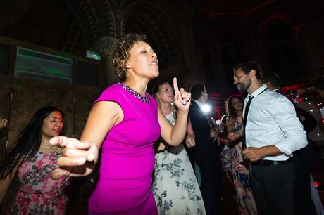 Fun Dance photograph during disco at St Stephens Hampstead Wedding Photography