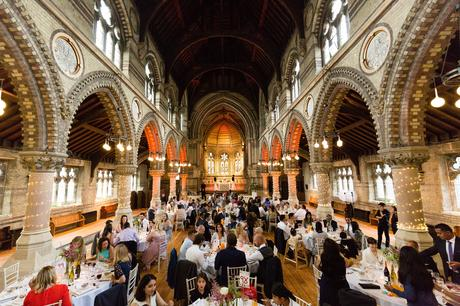 St Stephens Hampstead Wedding Photography interior wedding photograph showing the tables