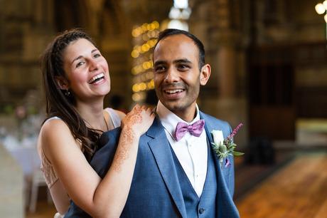 St. Stephens Hampstead Wedding couples photographs inside building