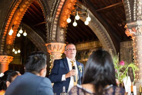 St Stephens Hampstead Wedding Photography dad giving speech