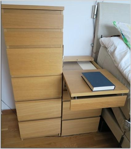 malm extendable bed table